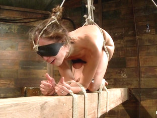 Audrey Rose in Audrey Rose Challenged With Tough Beam Bondage - HogTied
