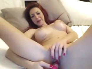 Hot Redhead MILF Pussy Toying on Webcam
