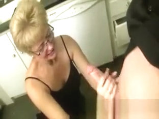 Cum hungry mature receives large jizzload and loves it