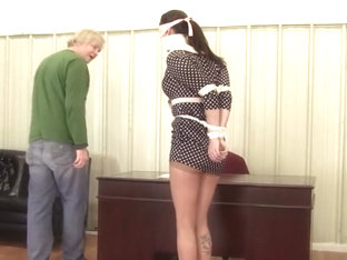 Belle Davis - Gagged and Blindfolded