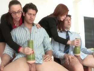 Naughty sluts doing strange things with thse fellows