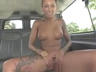 Punk Amateur Slut Taking Cumshot In Back Of Van