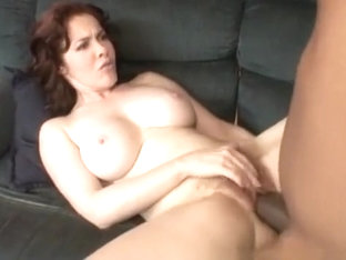 Busty brunette MILF eats a big black dick and gets humped hard