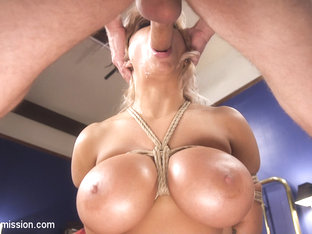 Alyssa Lynn & Michael Vegas in Dominating My Girlfriend's Mom's Big Fake Tits - SexAndSubmission