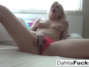 Dahlia Sky in Dahlia Sky Walks Around A Big House Alone And Makes Herself Cum - DahliaSky