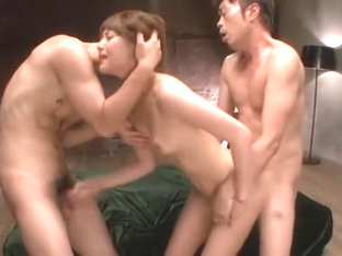 Crazy Japanese model Mei Aso in Exotic Threesome, Amateur JAV scene