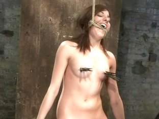 Bondage virgin experiences inescapable rope bondage Unable to prevent us from making her cum!