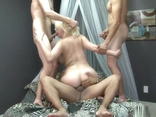 Alice Frost Banged By Three Studs