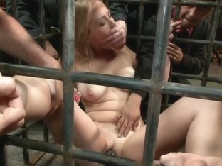 Babe in a cage and fed to a hungry crowd