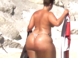 Extreme Big Phat Ass Booty topless sunbathing - youpornstarvideos.com
