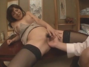 Horny Japanese chick Karen Natsuhara in Hottest Stockings/Pansuto, Ass JAV clip
