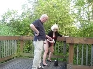 Granny fucked Outdoors