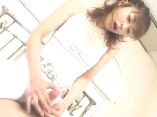 Hottest Japanese whore Sara Minami in Horny Handjob, Rimming JAV scene