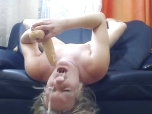 dumb russian slut wrecks her throat in sloppy deepthroat show