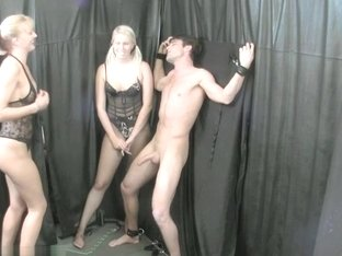 Vanessa Cage & JC Simpson Play with their Bound Sex Slave
