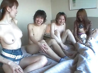 Fabulous Japanese model in Exotic Group Sex, Blowjob/Fera JAV scene