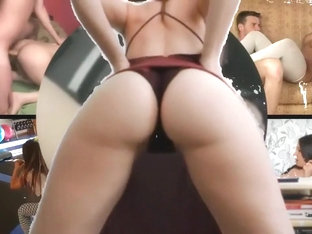 Sensual Brunette Cheerleader Shows Off Her Sublime Ass For