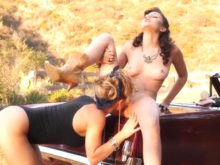 Bad ass cowgirls Ariana Marie and  lick pus