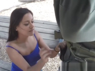 Dark Haired Teen Gets Filled By Border Guard