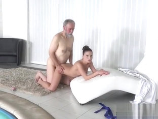 Teen Anita Bellini Has Dirty Old Man Fuck Her