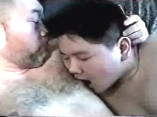 Daddy and son - Asian chubs