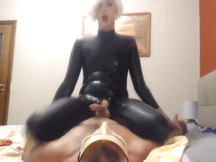 Crossdresser in Latex have wild Sex
