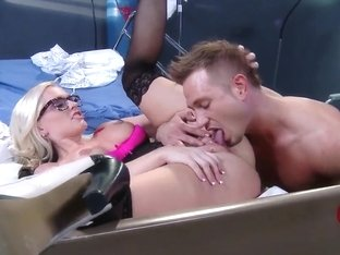 Hot doctor Alena Croft adventures with handsome Bill Bailey on the bed