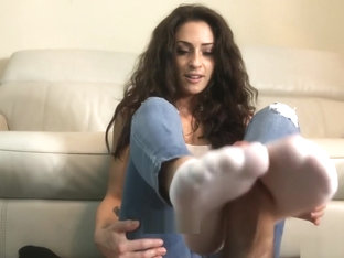 Ms Cleo - Socks Footjob