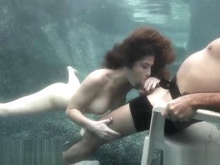 Lap dance sex underwater