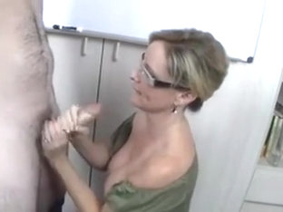 Classroom Handjob With Mrs. West
