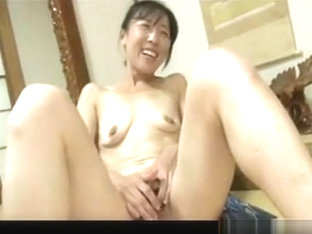 Japanese Granny has finger fun